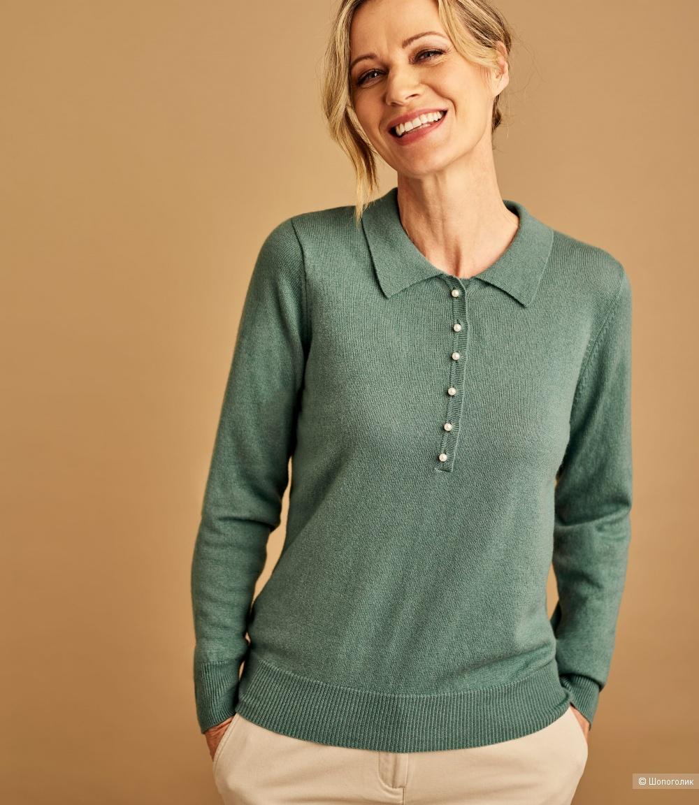 Шерстяной пуловер-поло tanya, размер 46/48/50