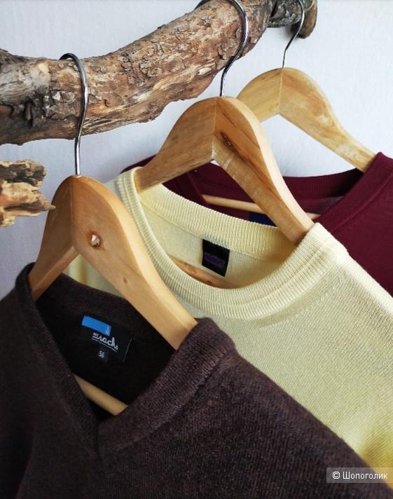 Шерстяной пуловер Sashs, цвет коричневый, размер 56 ( S, M, L, XL )