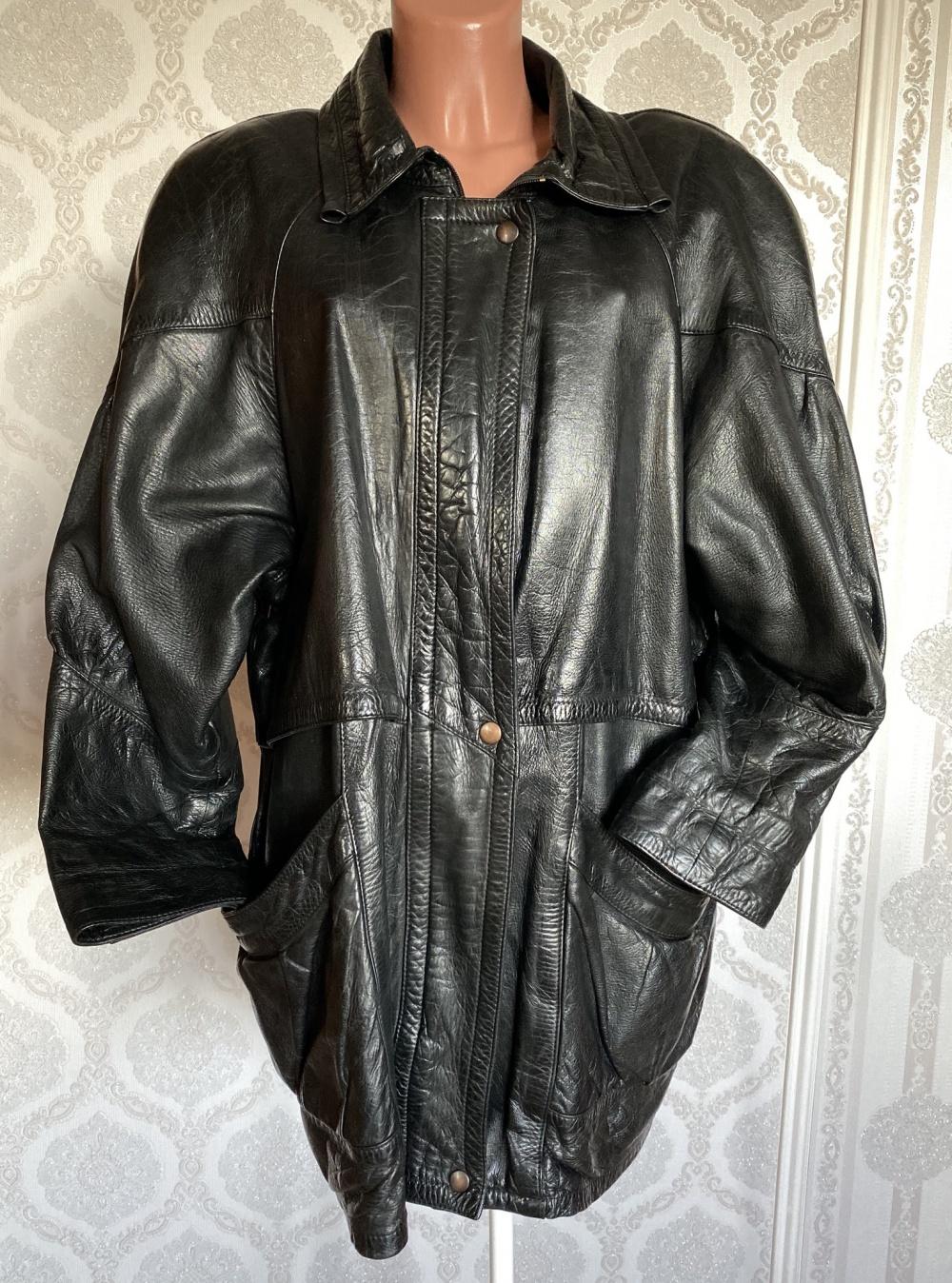 Куртка кожаная парка Brax размер 52-54