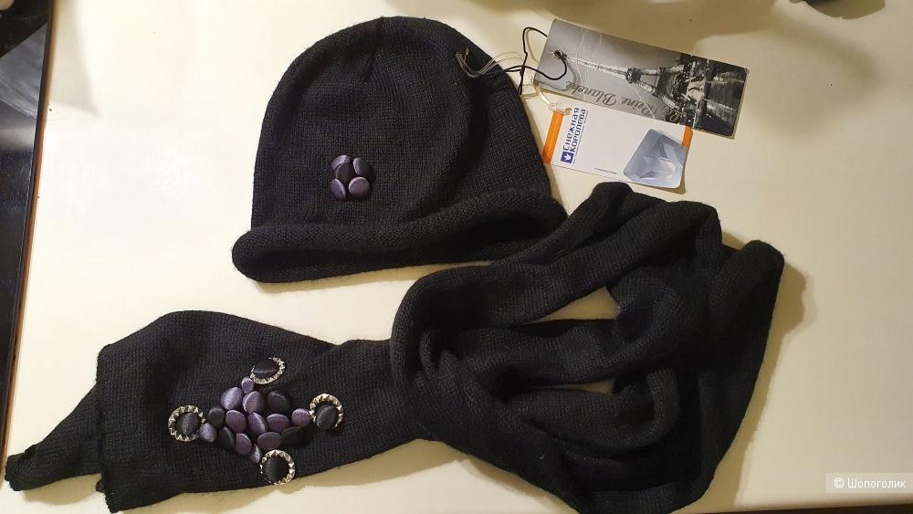 Комплект (шапка+шарф) La Reine Blanche. Один размер