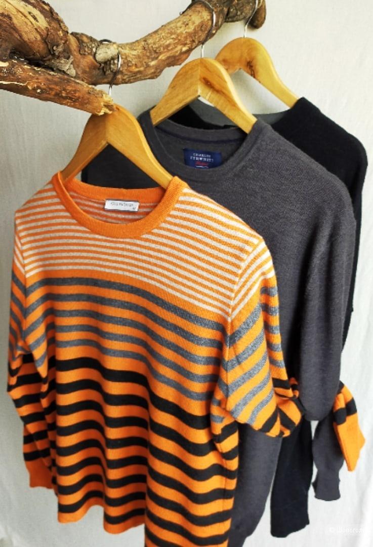 Разноцветный джемпер Kris Fashion, с шерстью,  размер 40 ( XS, S, M )