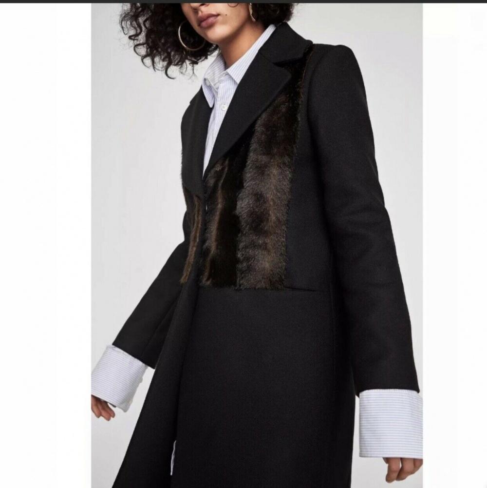 Шерстяное пальто ZARA новое, размер XS/S