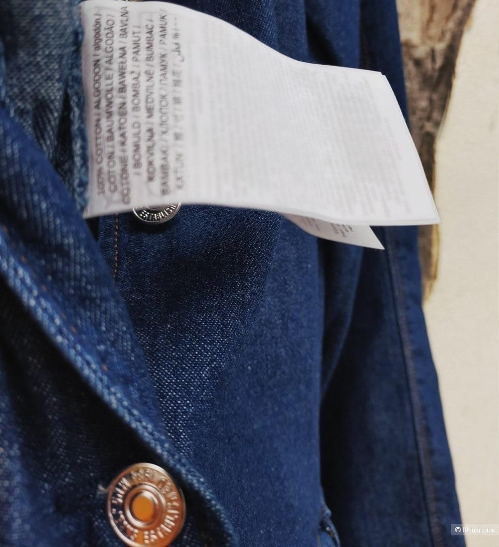 Джинсовый комбинезон Mango, синего цвета, размер S / M / L