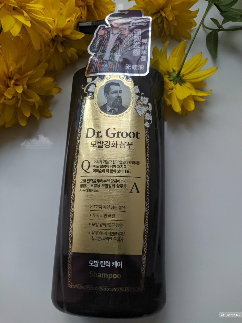 DR.GROOT Шампунь Без силикона для укрепления корней волос, 400мл