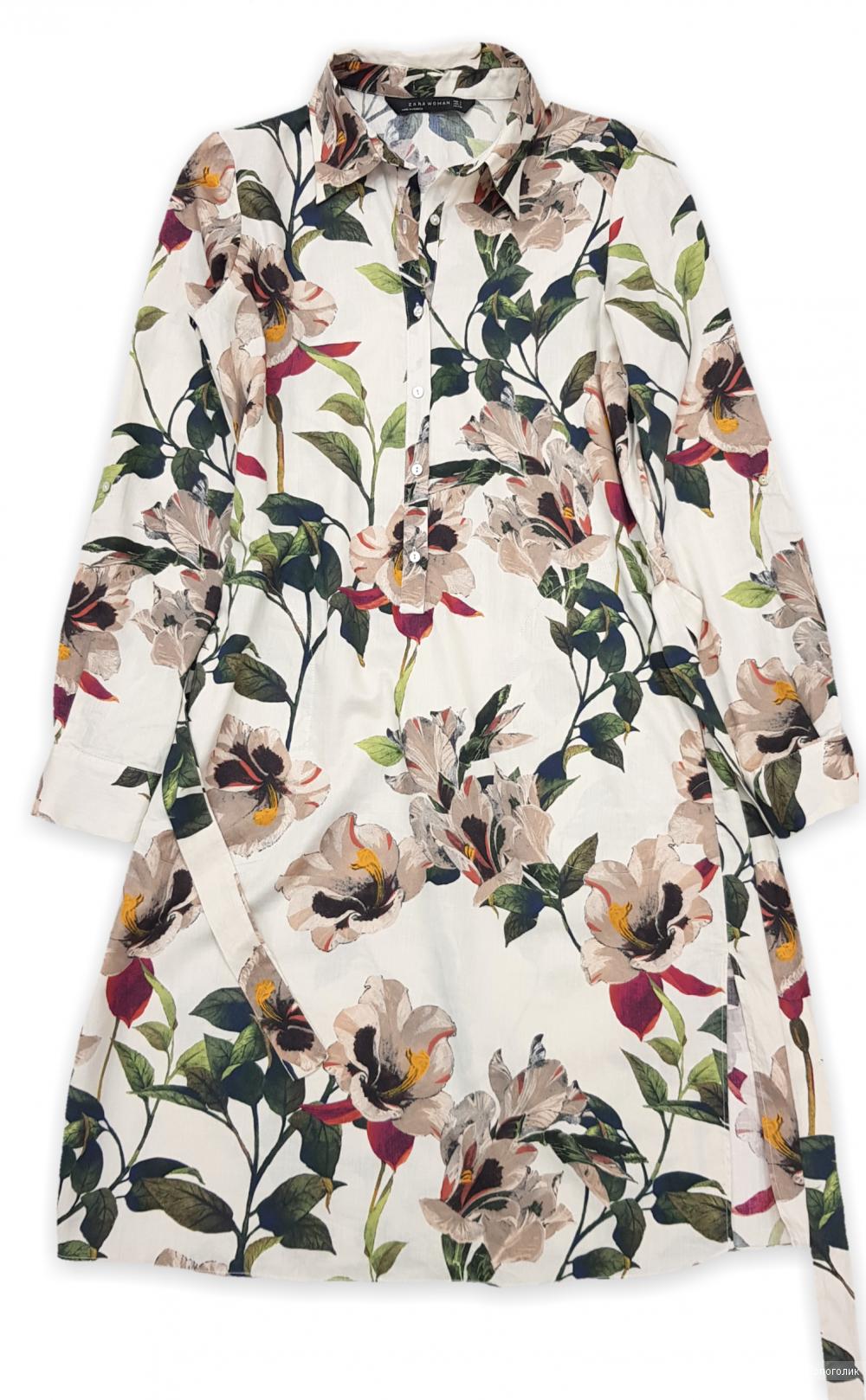 Платье-рубашка Zara 42/44/S