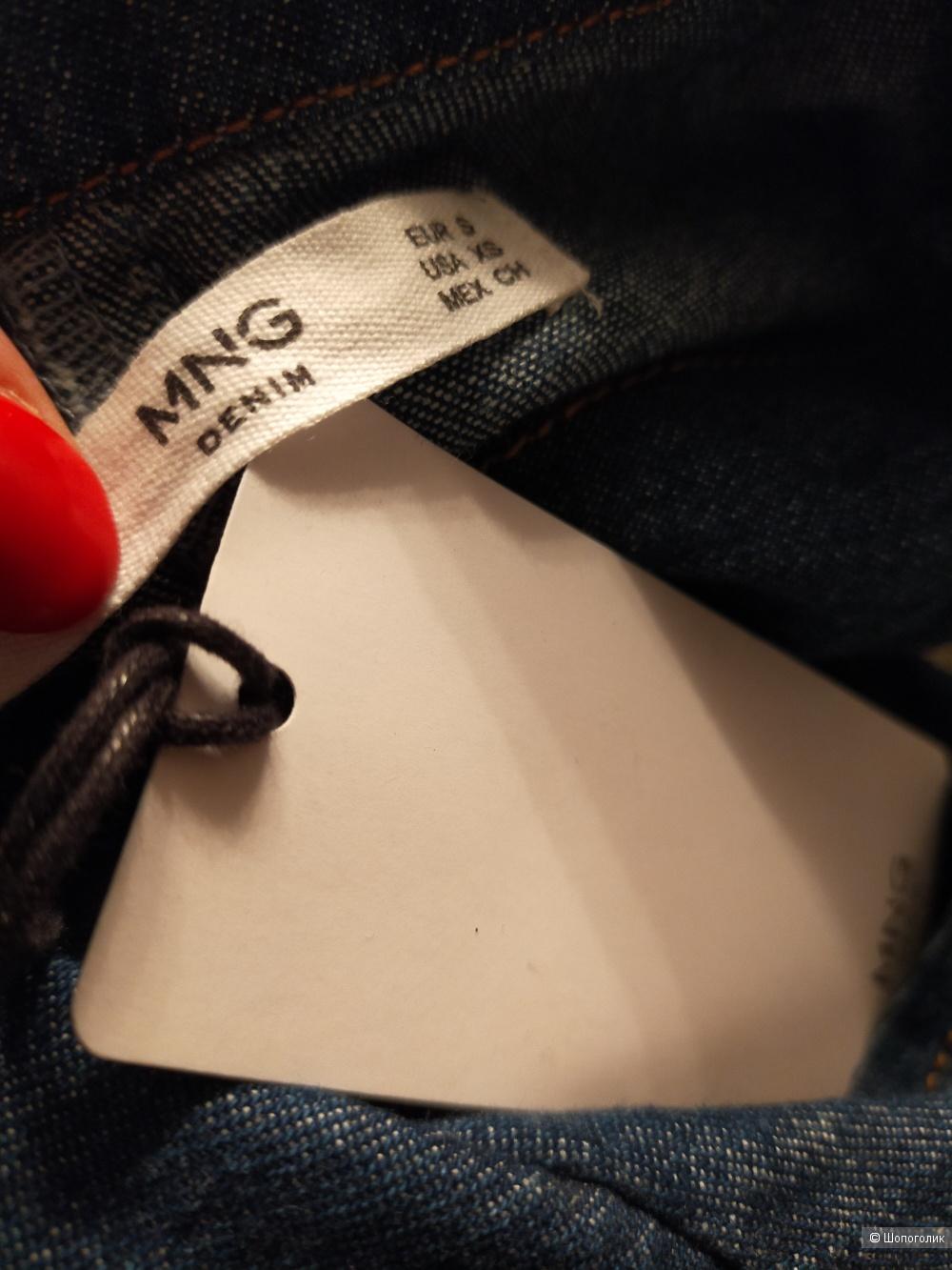 Джинсовый комбинезон Mango, синего цвета, размер XS / S