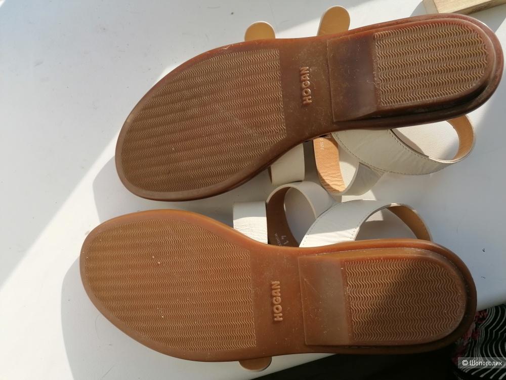Кожаные сандалии Hogan 41 размера