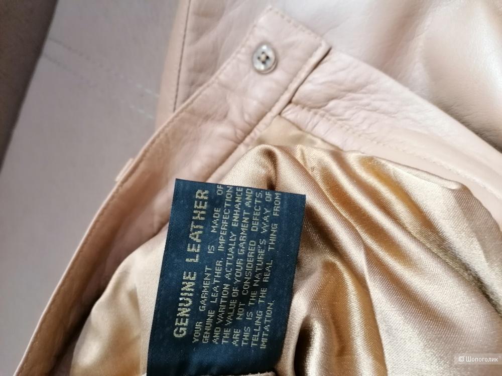 Кожаные брюки Genuine Leather размер 36 евро