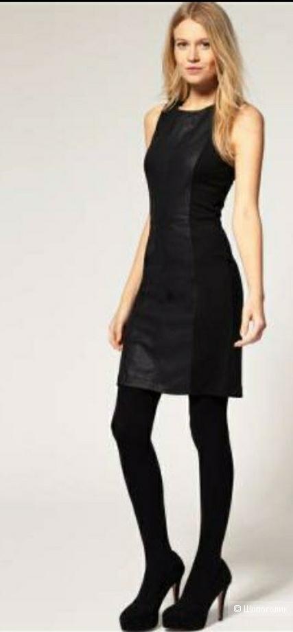 Платье, Stefanel, кожа, 44-46