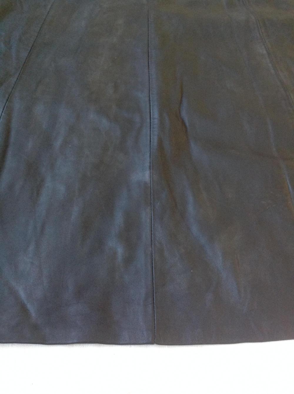 Кожаная юбка миди , размер 48-50-52