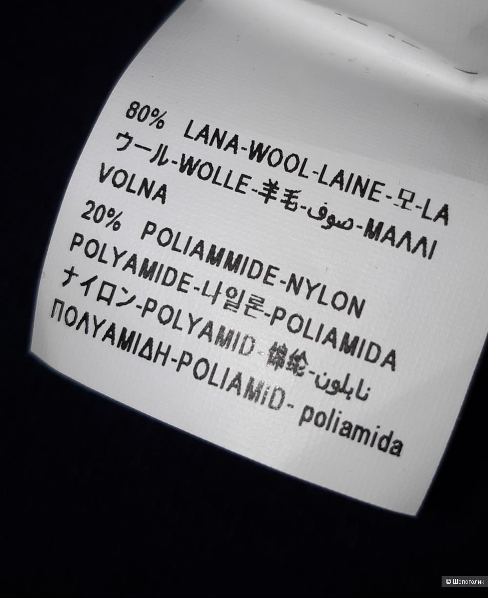 Новый шерстяной свитер-водолазка benetton, размер l