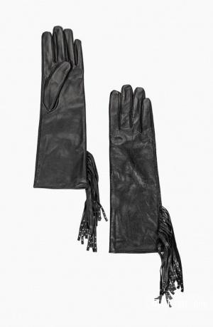 Кожаные перчатки mango, размер m