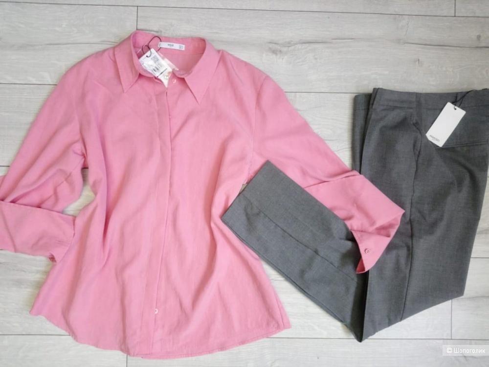 Объемная рубашка из лиоцелла mango, оверсайз