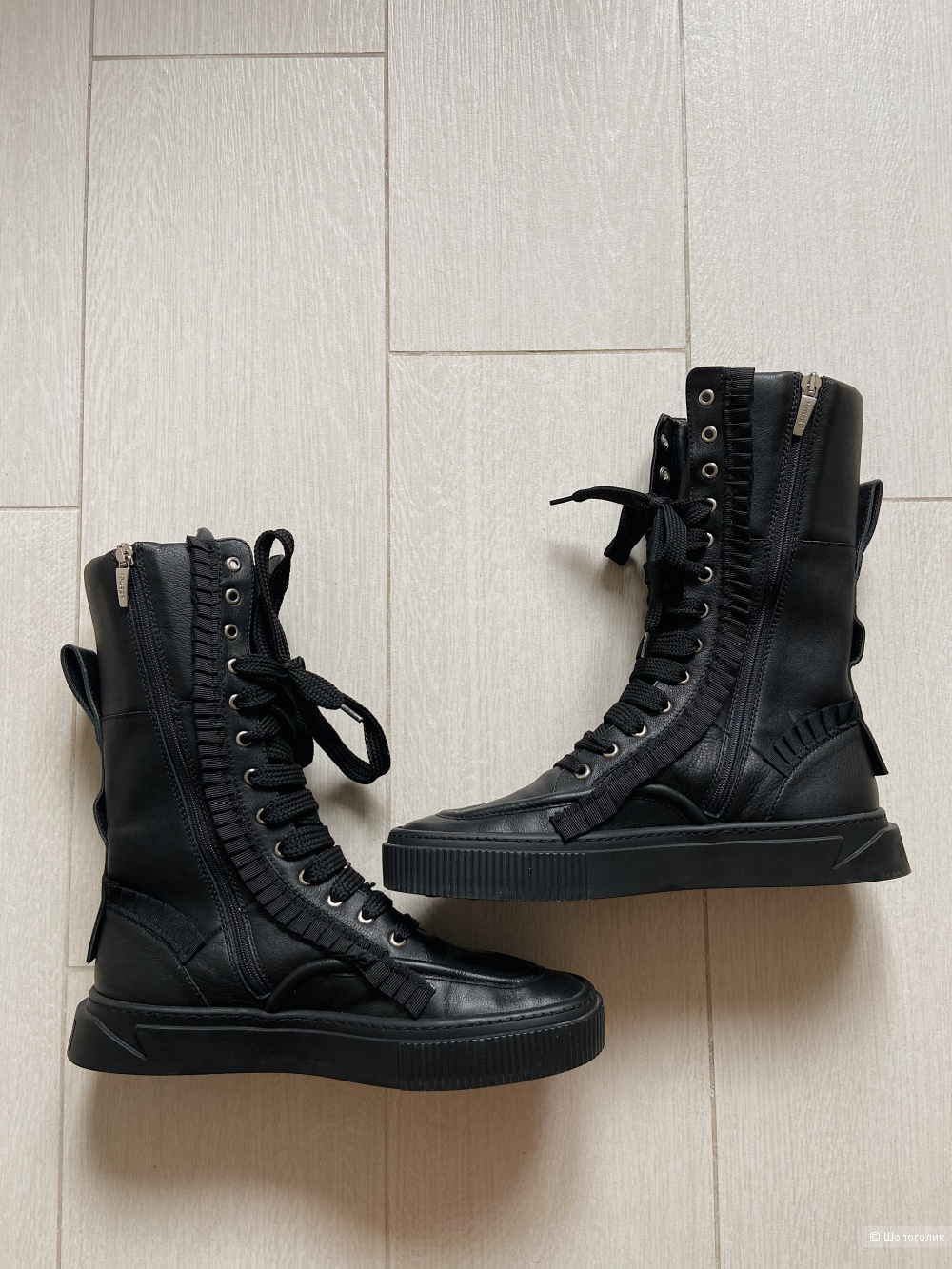 Кожаные ботинки MyGrey 40 (реально на 41)