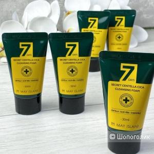Очищающая пенка для проблемной кожи с экстрактом центеллы May Island 7 Days Secret Centella Cica Cleansing Foam. В профиле большой выбор корейской оригинальной косметики