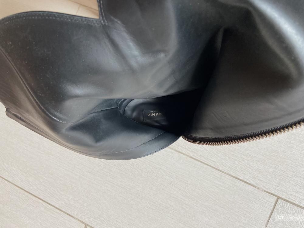 Кожаные сапоги Pinko 40 размер ( идут на 39)