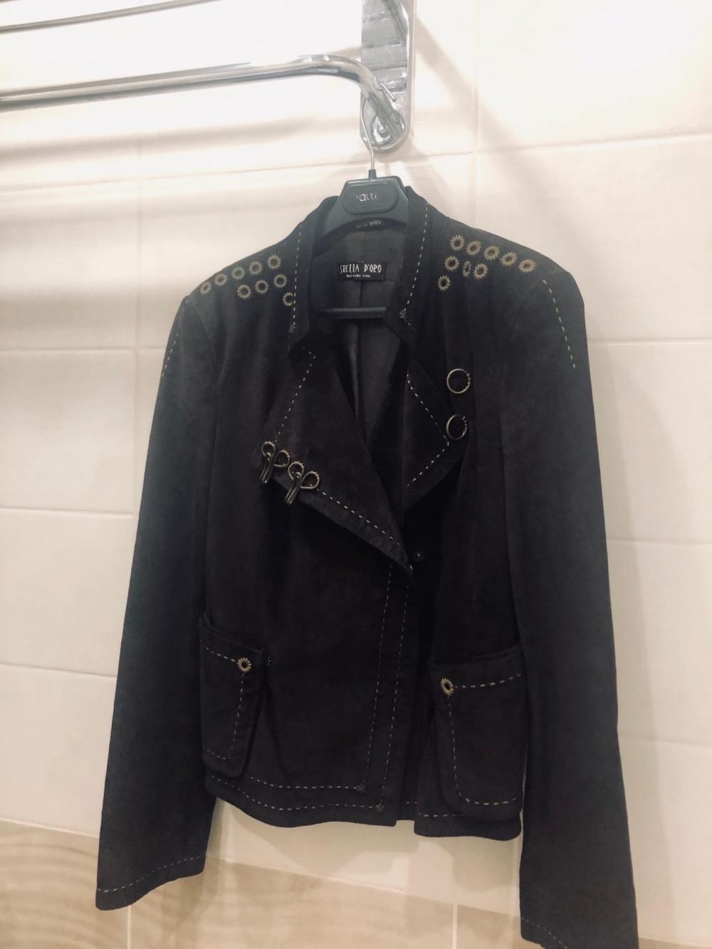 Кожанная куртка Stella D Oro. Размер S-M.