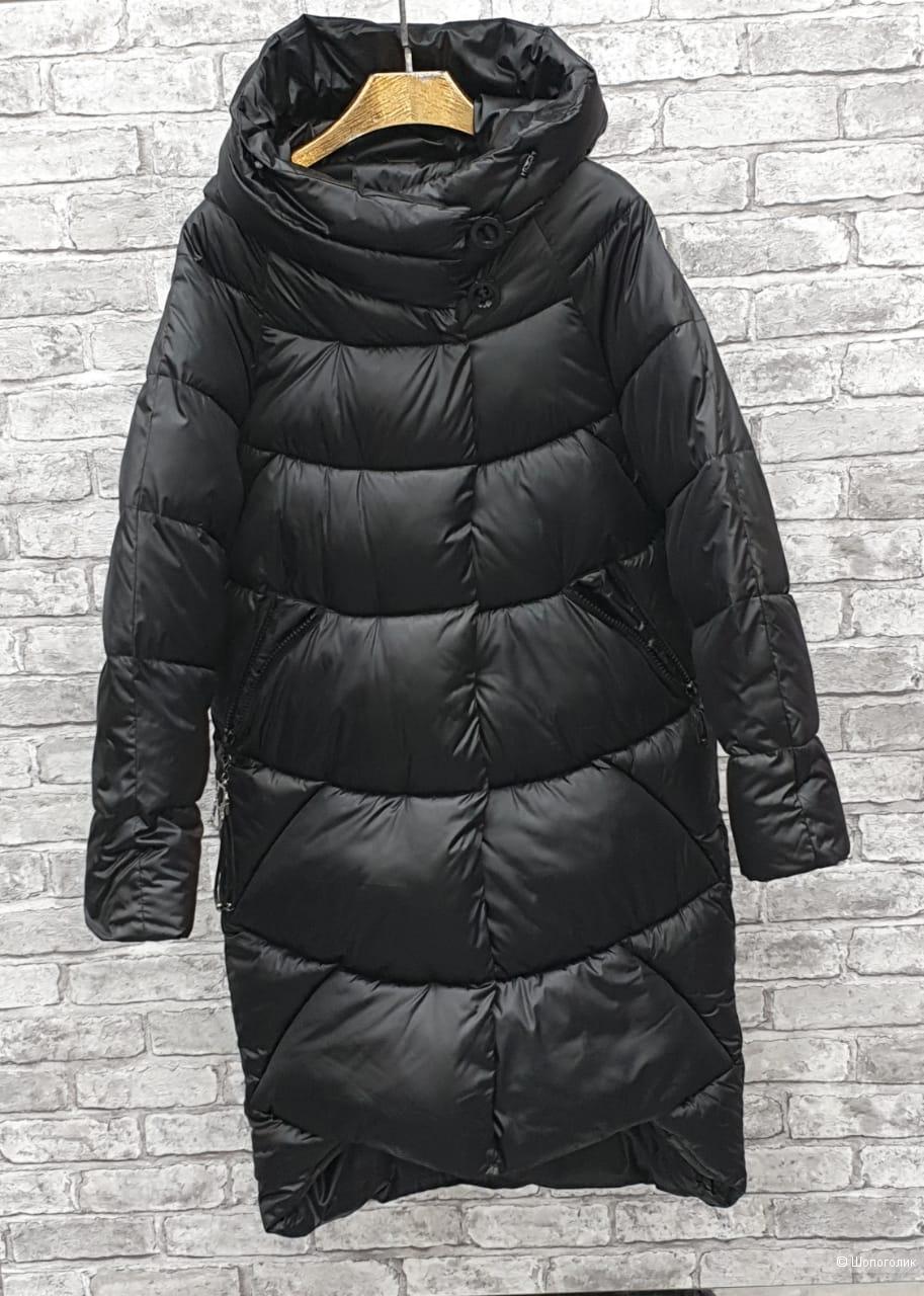 Пуховик пальто капюшон с пуговицами зима, BUT WINTER , 42-48