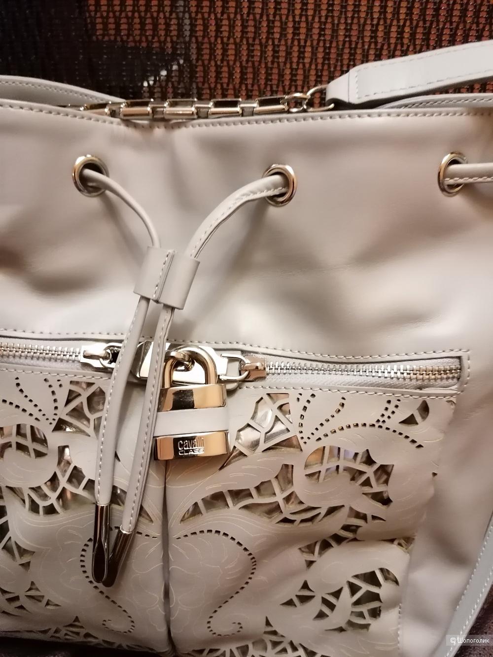 Кожаная сумка Class Cavalli