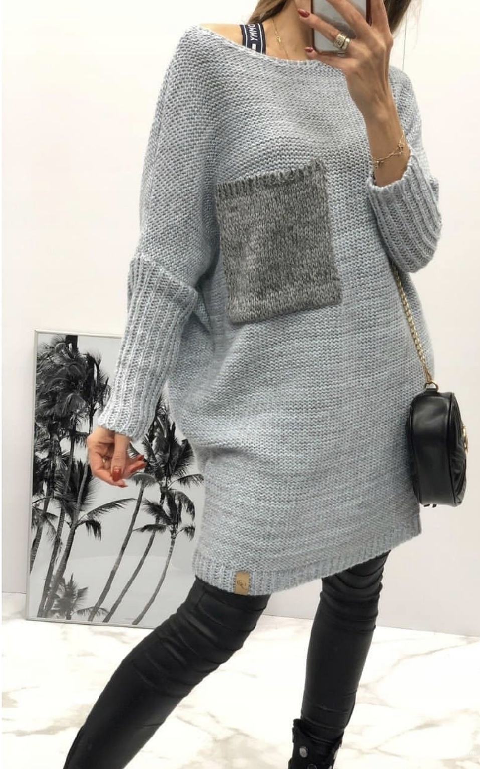 Платье туника вязаное Pola, оверсайз