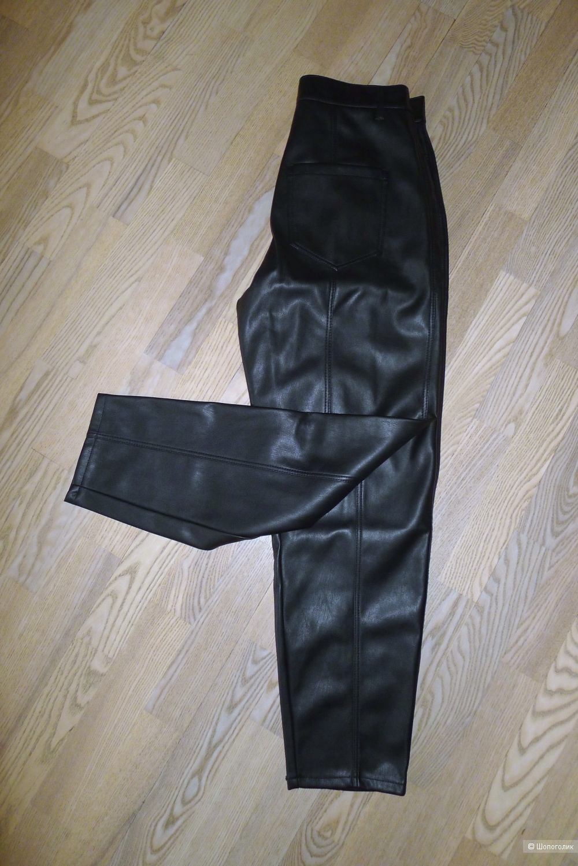 Брюки джоггеры кожаные zara размер 36