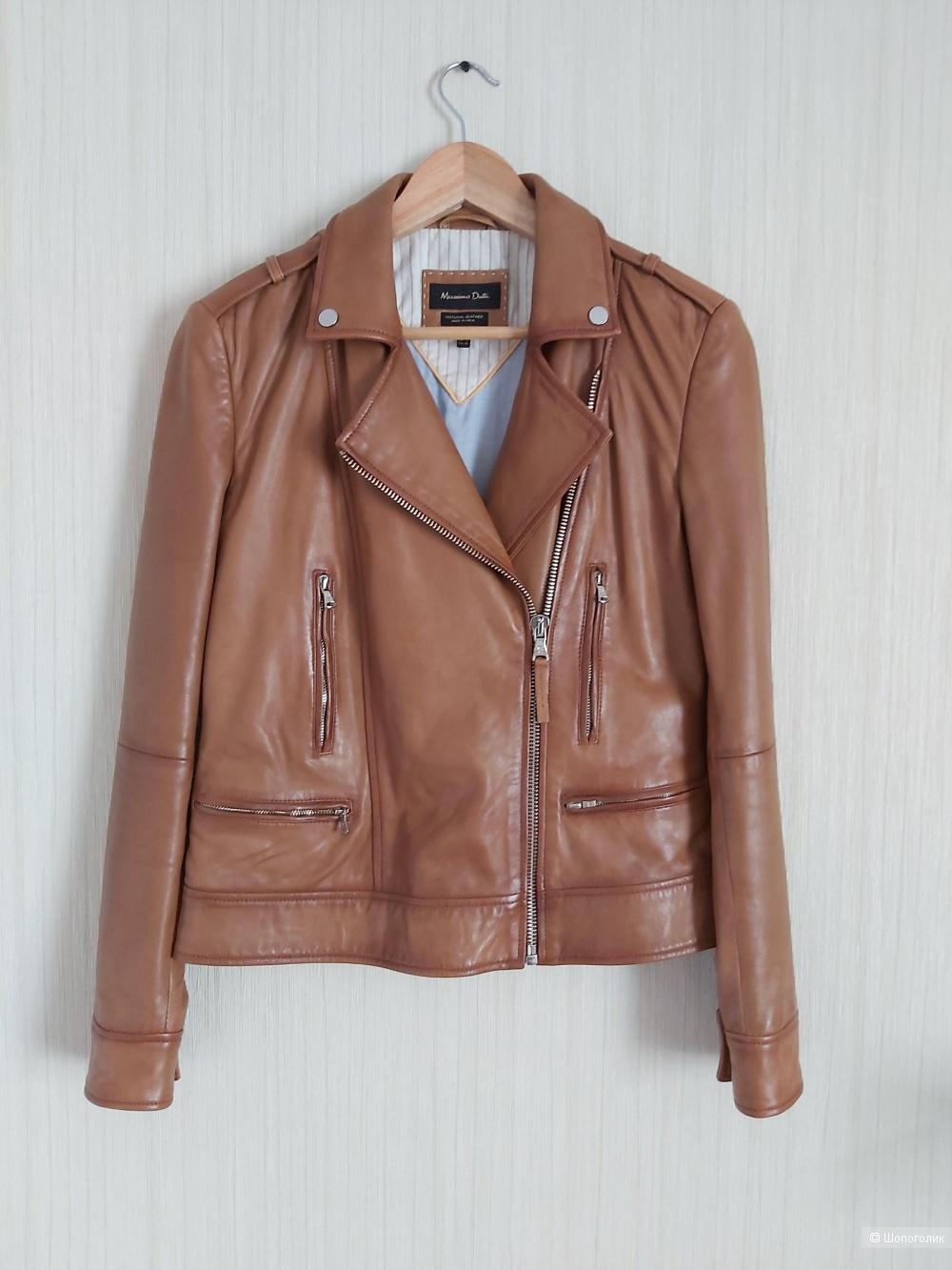 Кожаная куртка Massimo Dutti, размер S