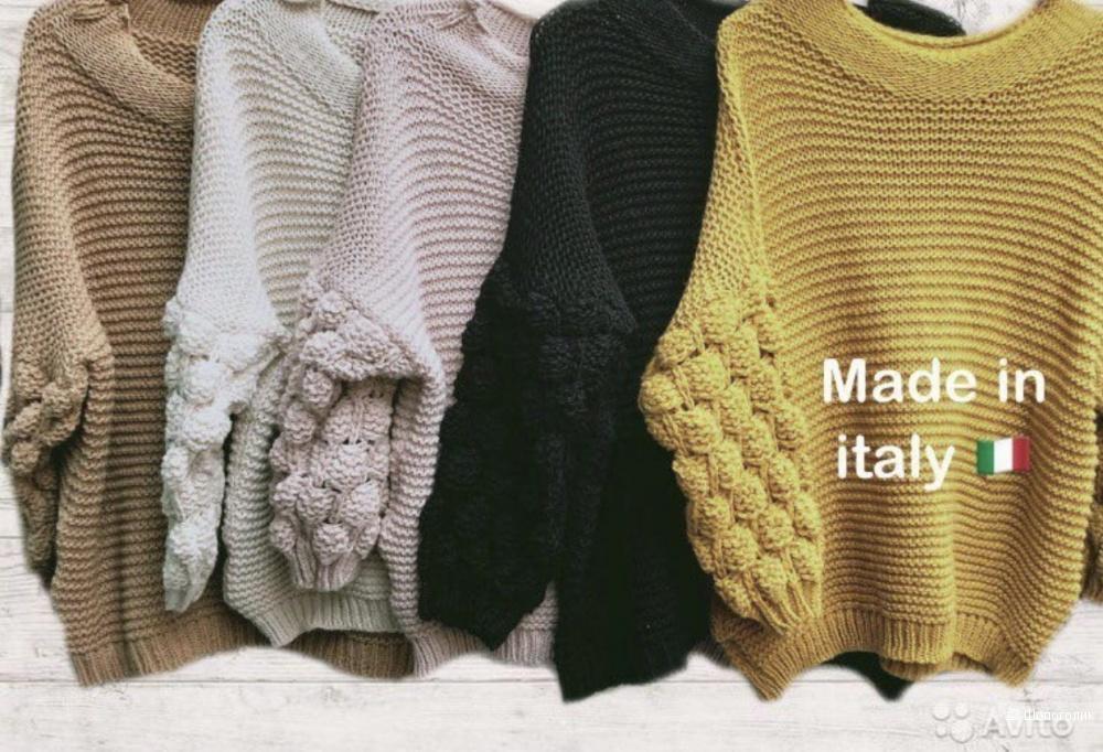 Свитер объемная вязка рукав MODA ITALIA, oversize