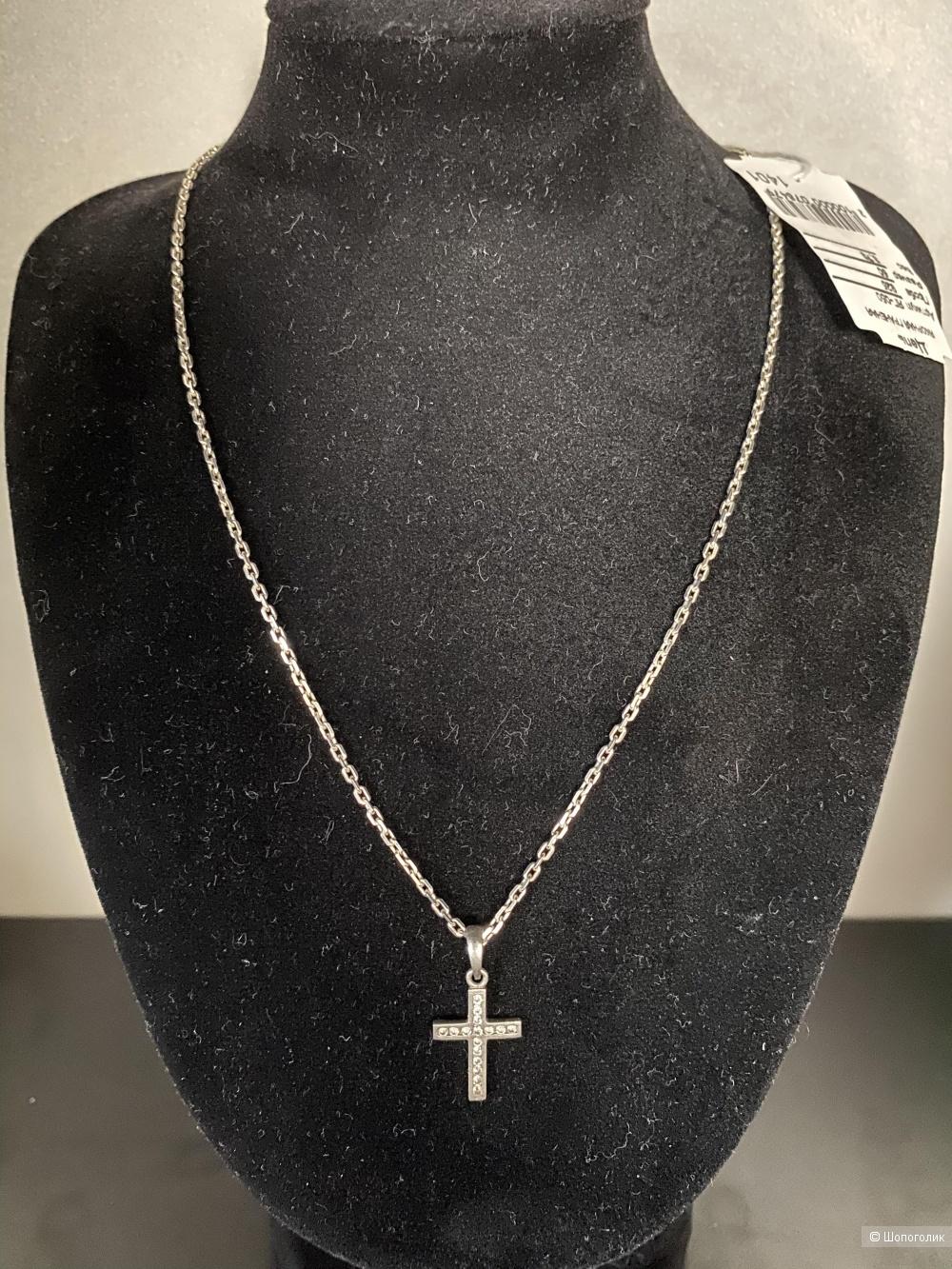 Серебряная цепь с крестиком Дарья