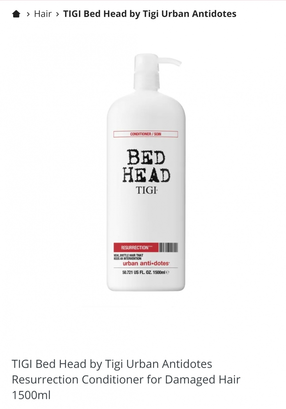 Кондиционер TIGI URBAN ANTI+DOTES 3 level 1500 ml