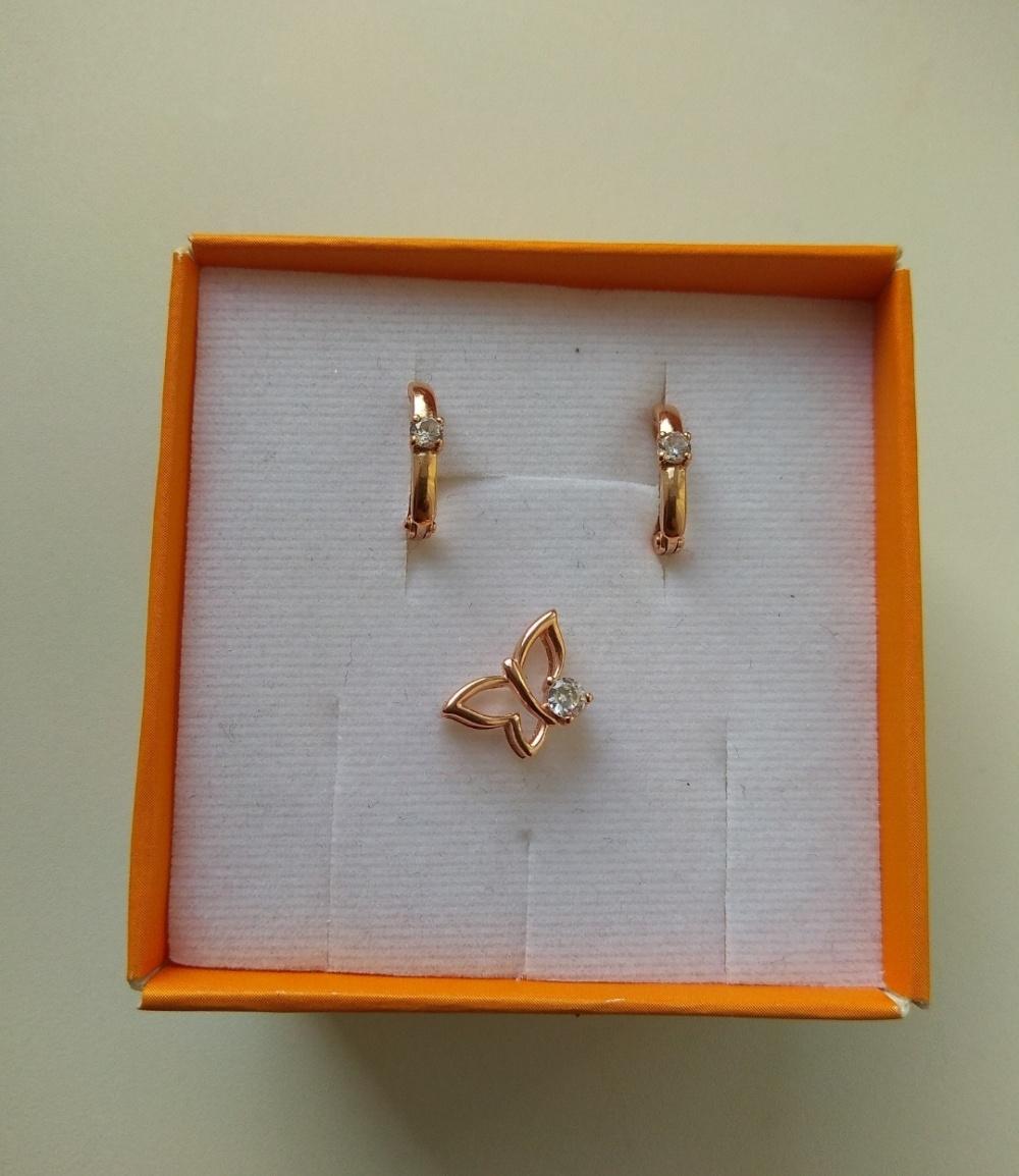 Золотые серьги Каратов размер one size
