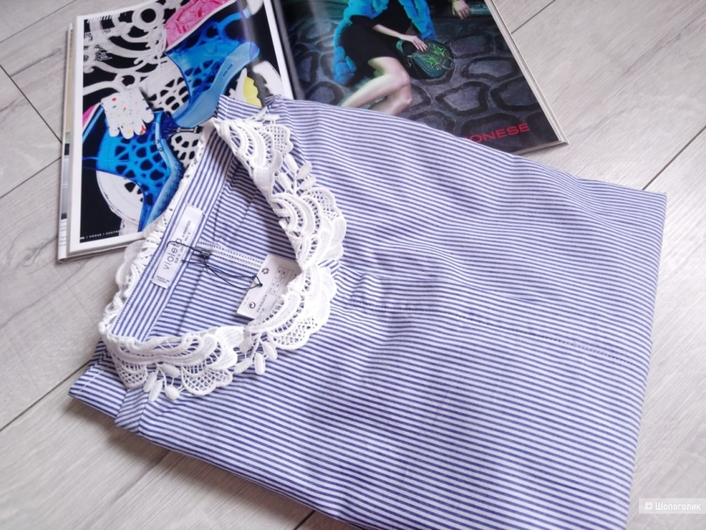 Хлопковая рубашка Violeta by mango, росс. 46/48/50