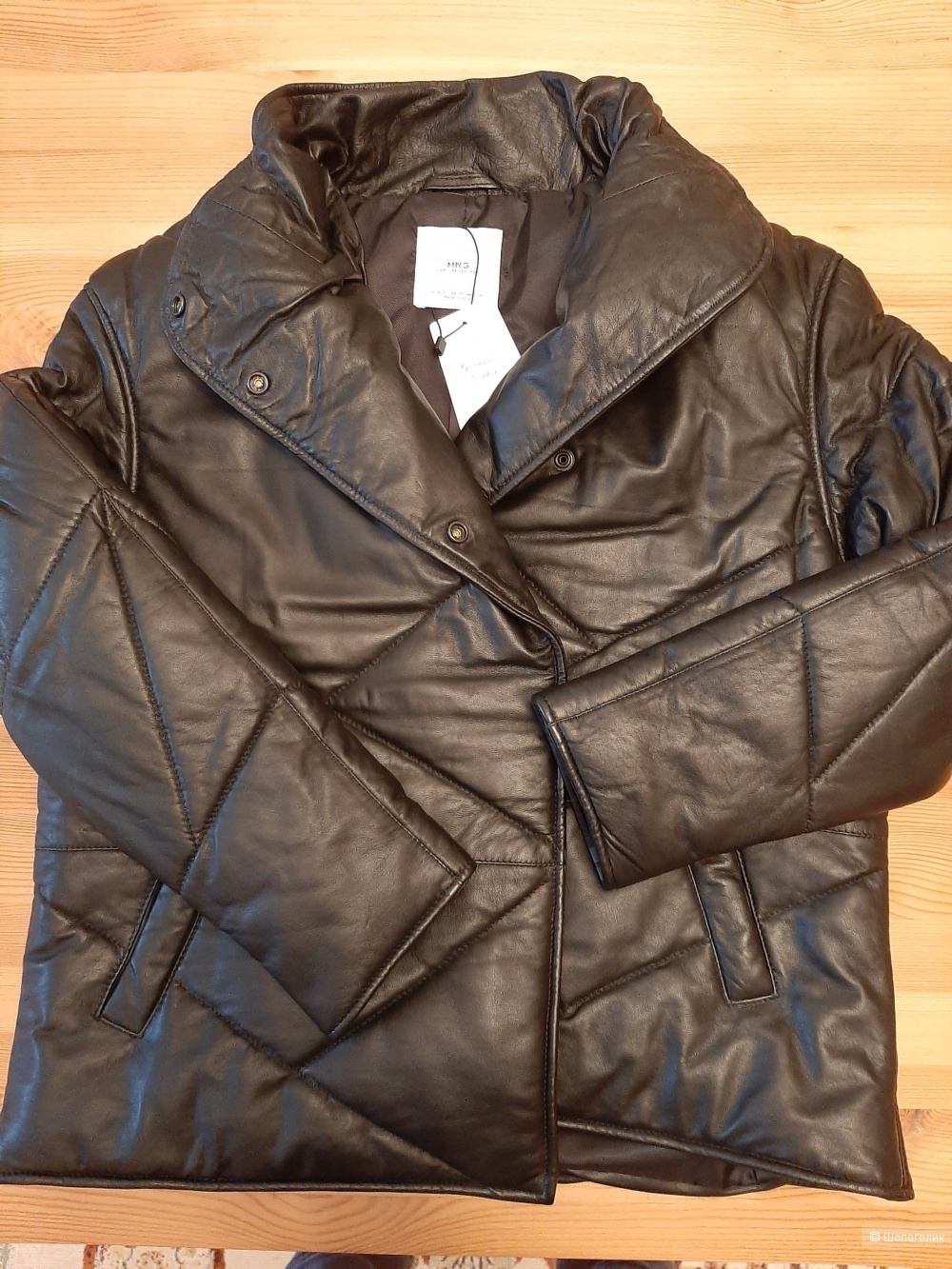 Кожаная куртка Mango S