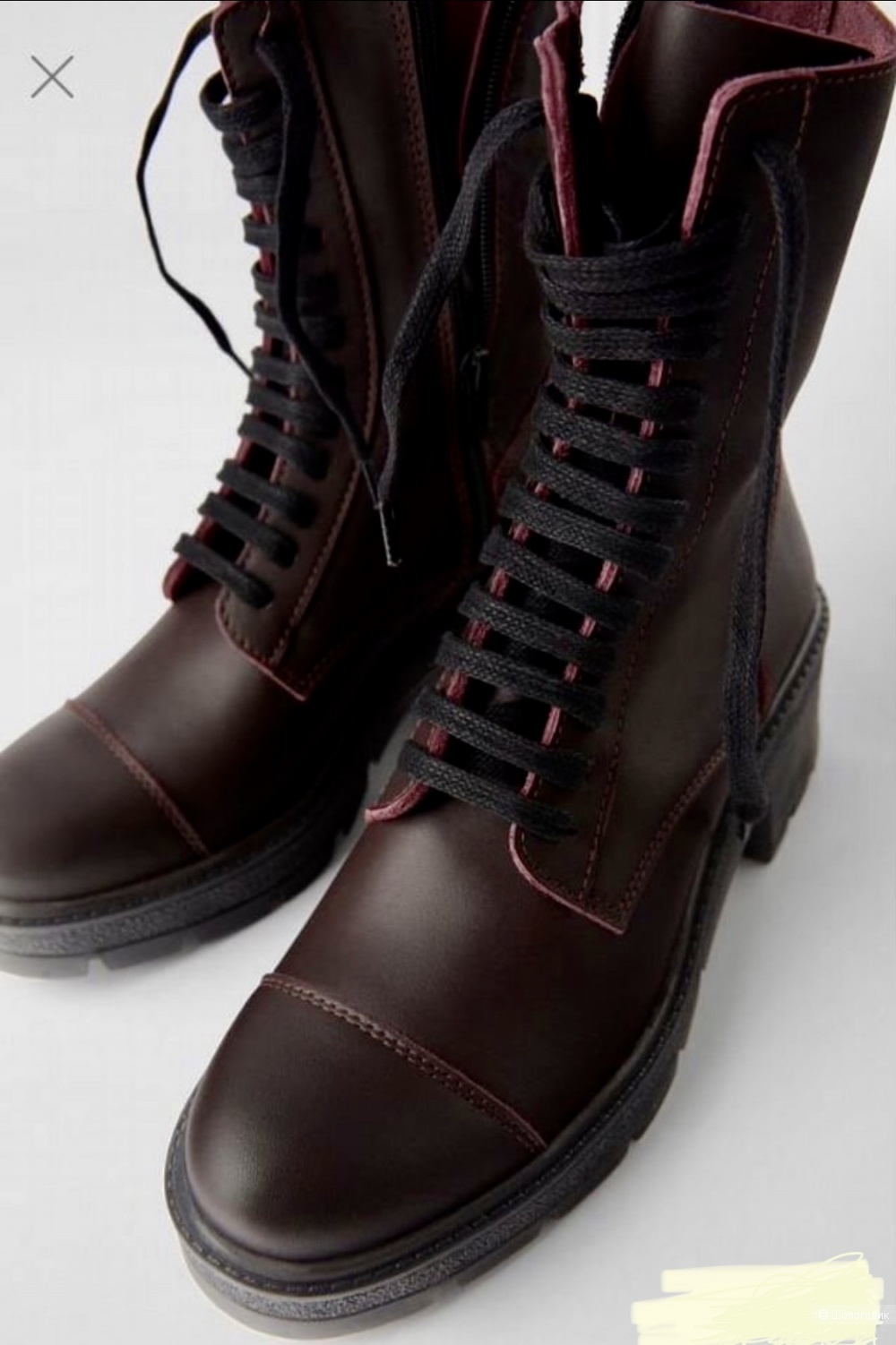 Кожаные ботинки, Zara. 37