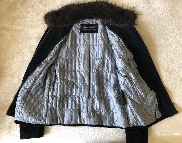 Замшевая утепленная куртка HUMAN NATURE,46