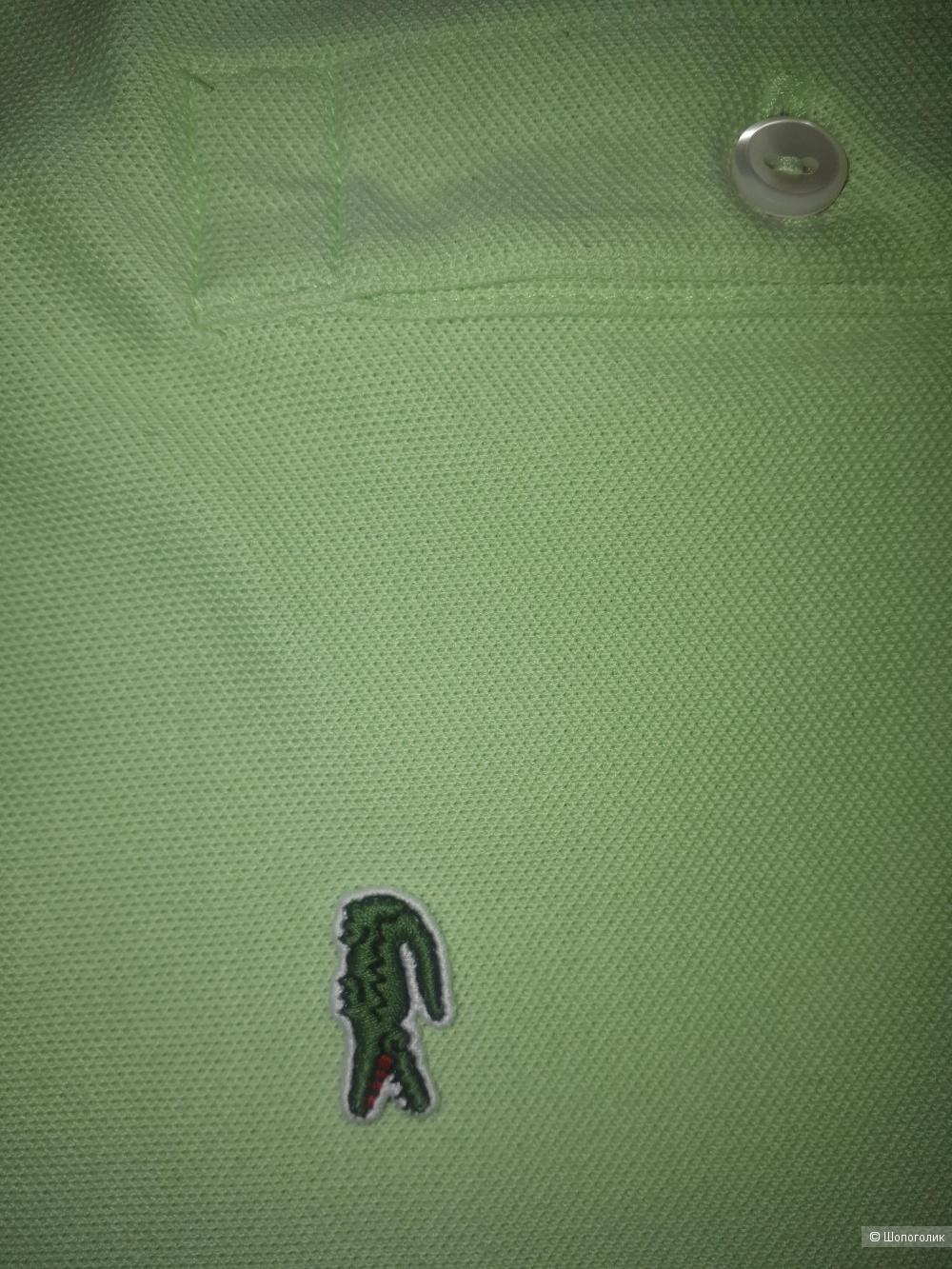 Lacoste женское поло мятного цвета. Размер евро 42 (наш  48).