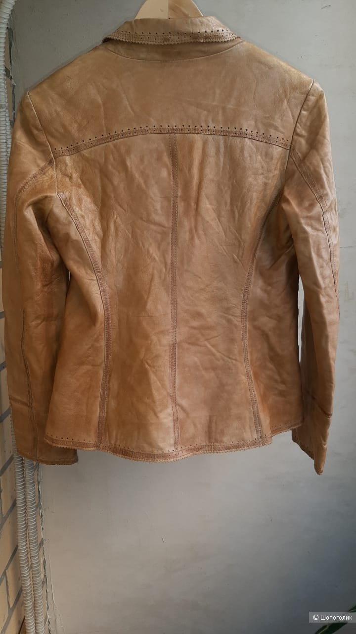 Куртка-жакет кожаная Saki, европейский 40, на 46