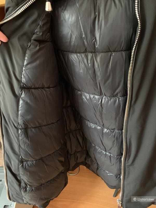 Стеганая куртка-парка с капюшоном ZARA, размер М( + -)