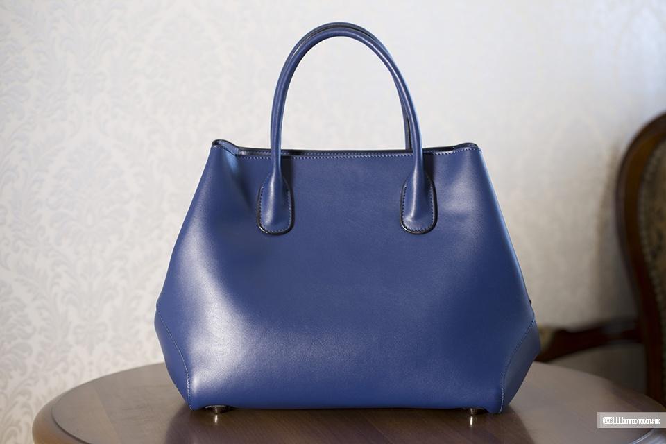 Сумка-тоут новая Christian Dior Open Bar синяя.
