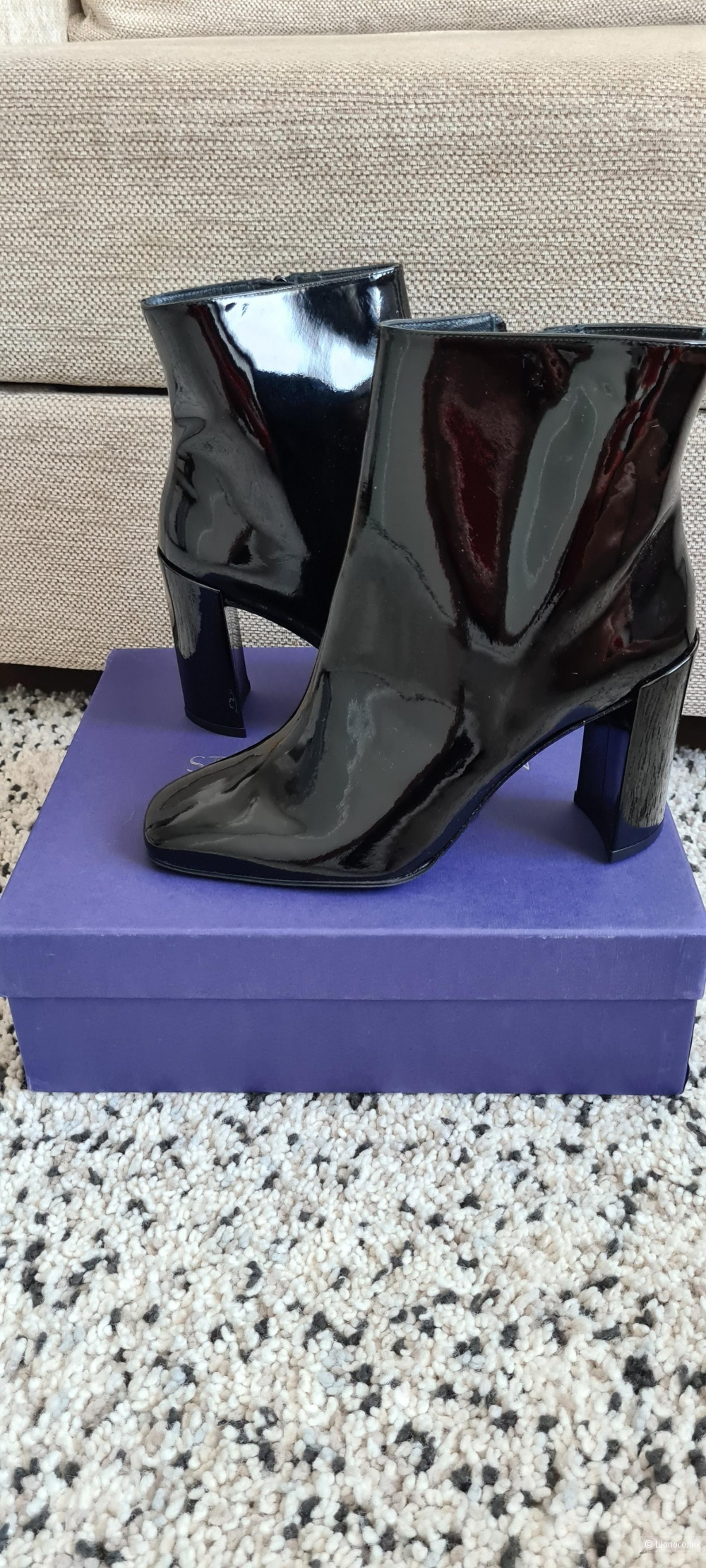 STUART WEITZMAN Patent-leather ankle boots,39