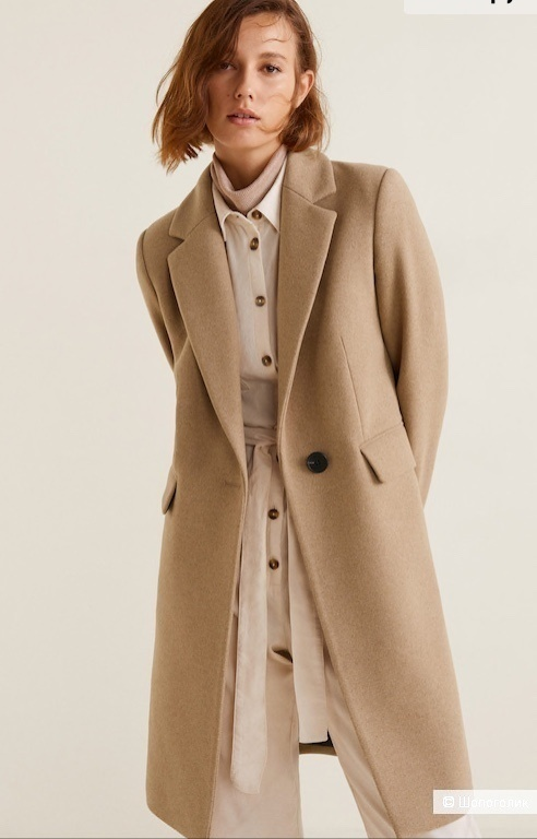 Пальто мужского кроя MANGO, размер М