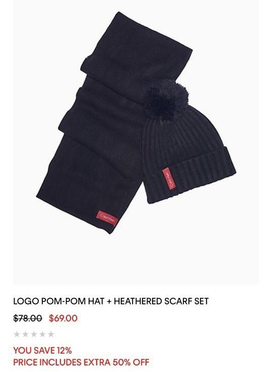 Набор шапка и шарф Calvin Klein