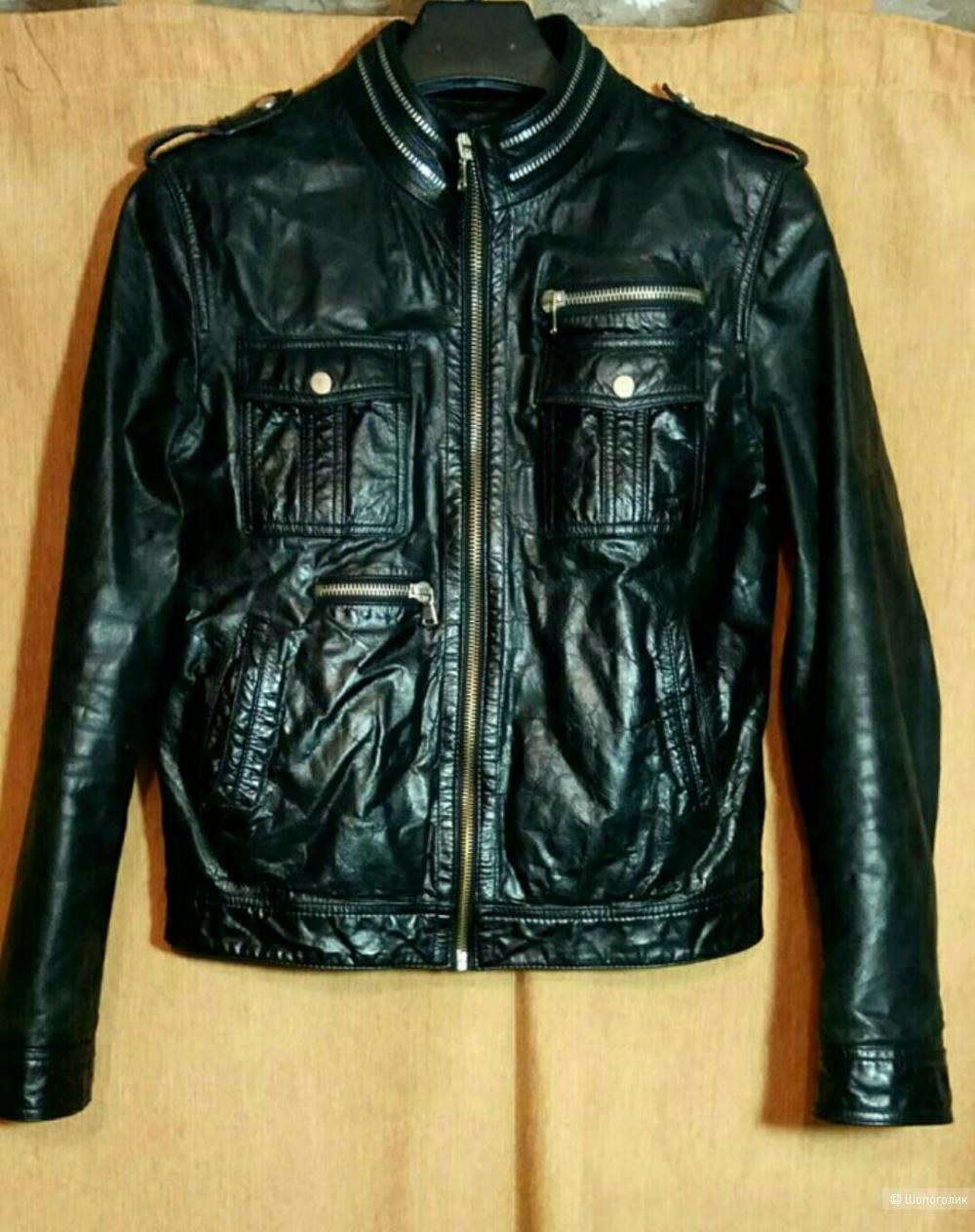 Zara man куртка кожа 46/48 размер