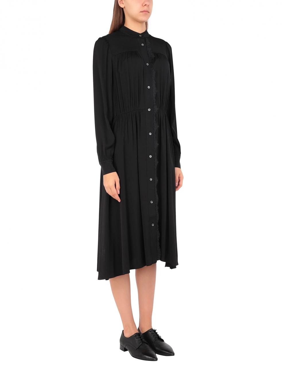 Платье-рубашка CALVIN KLEIN LS LACE TRIM DRESS на 44 -46 размер