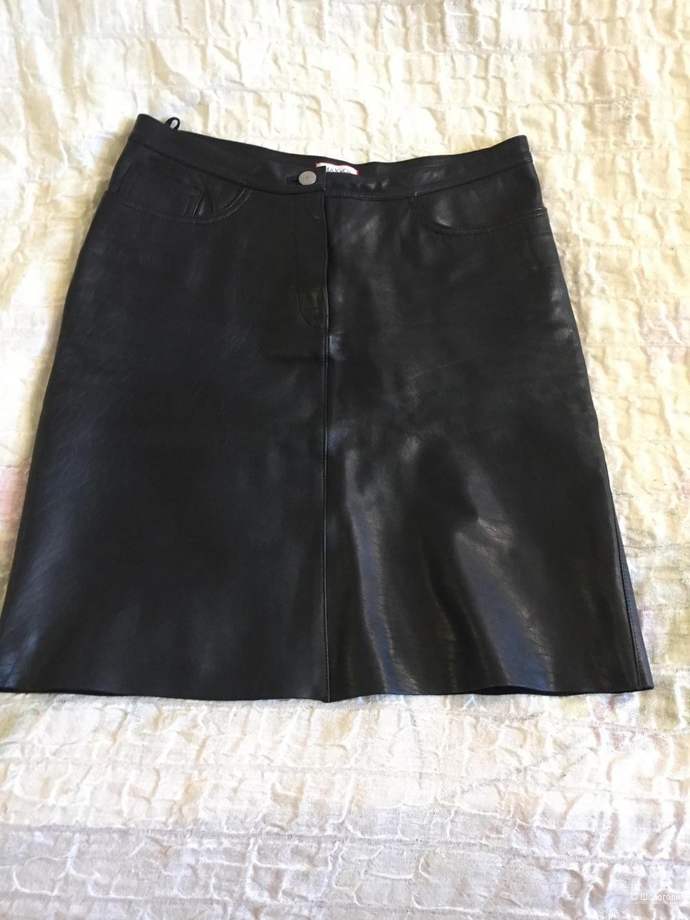 Кожаная юбка Max and Co, 42 итальянский размер.