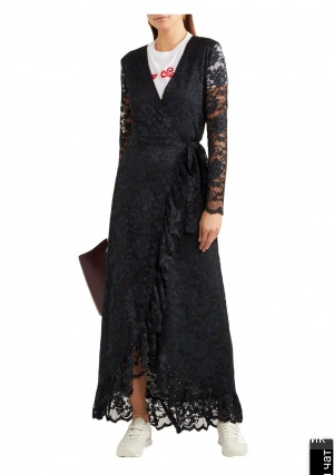 Кружевное платье ganni 42р