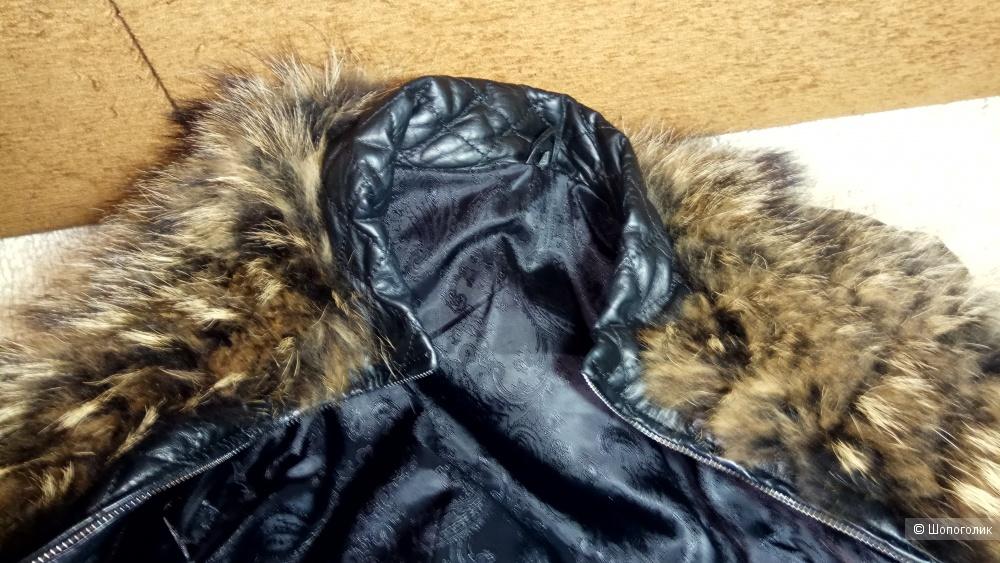 Куртка кожаная с мехом 46/48 размер