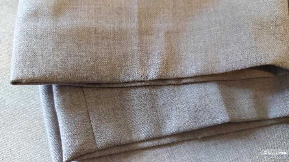 Брюки BRUNELLO CUCINELLI светло-серого цвета, размер 48 IT, 12 US