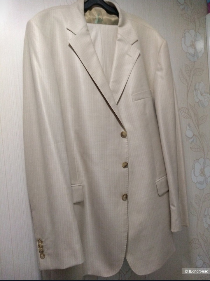 Мужской брендовый костюм Romano Botta, р. 58.