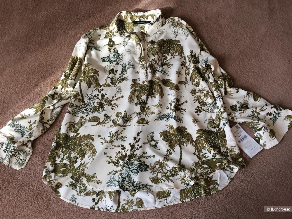 Рубашка-блузка Zara S оверсайз