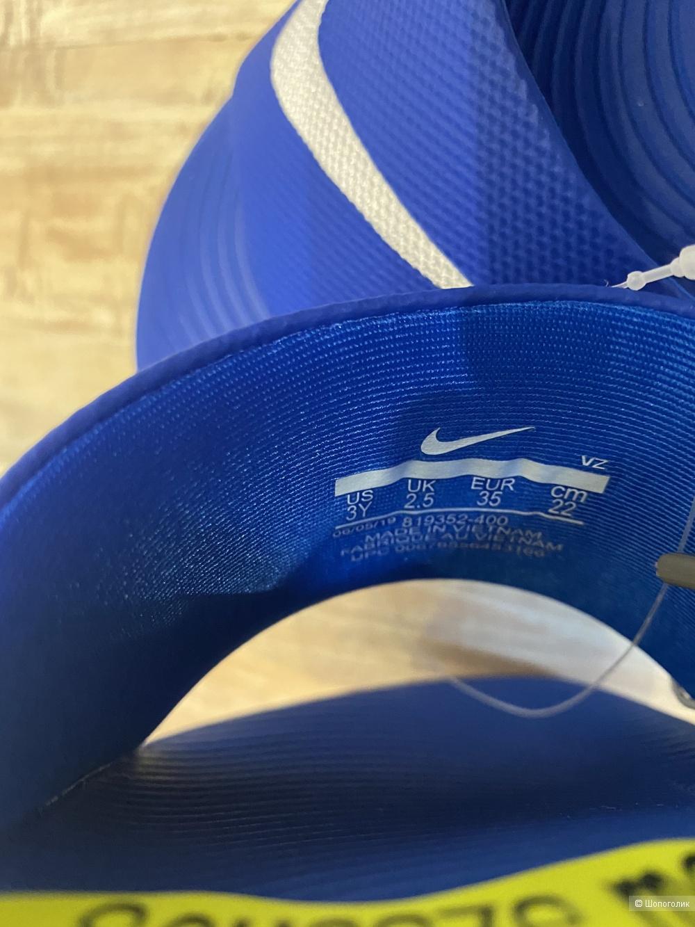 Детские пляжные шлепанцы NIKE, размер 35EUR/2,5UK/3US. На ногу 22 см